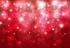 Katebackdrop:Kate Shining Heart Red Background Backdrop for Photography