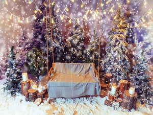 Katebackdrop:Kate Christmas Theme Snow Christmas Tree Photography Backdrop