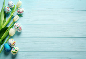 Katebackdrop:Kate Easter Egg Light blue Wooden Wall Background Still Photography