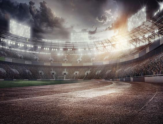 Katebackdrop:Kate Light Sport Stadium Gray Track Backdrop Sport
