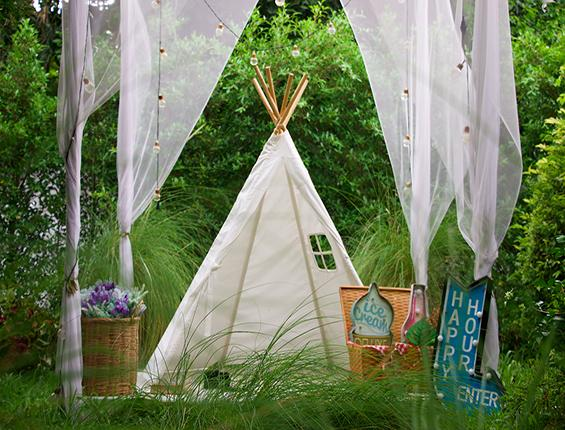 Katebackdrop:Kate White Tent Happy Hour Green Grass Backdrop Outdoor
