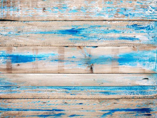 Katebackdrop£ºKate Blue Paint Wooden Floor Backdrop for Photography