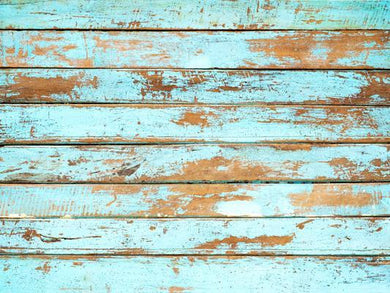 Katebackdrop£ºKate Light Blue Paint Fade Wooden Floor Backdrop for Photography