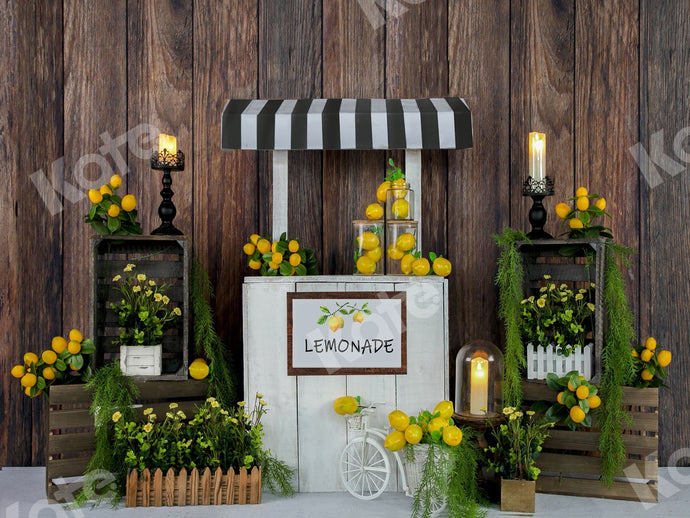 Kate Sommer Lemon Stand Backdrop Entworfen von Jia Chan Photography