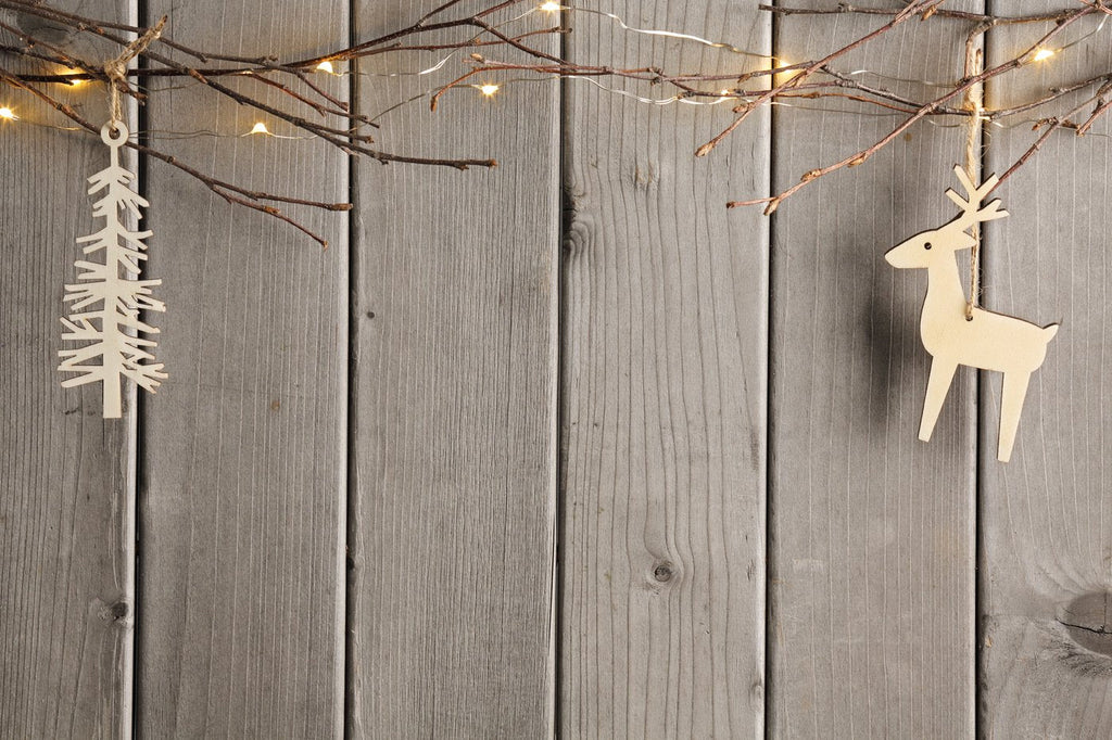 Katebackdrop:Kate gray Wooden Christmas backdrop branches for photo booth
