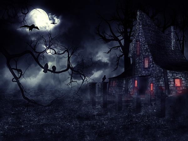 Katebackdrop:Kate Halloween Horror Night Scene Backdrop for Picture