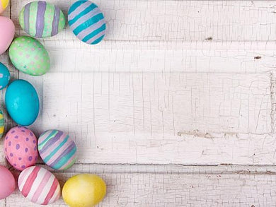 Katebackdrop:Kate Easter Colorful Eggs Wooden Wall Photography Backdrops