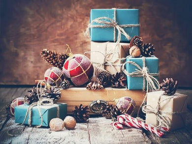 Katebackdrop:Kate Christmas Colorful Gifts Wall Photography Background