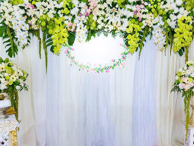 Katebackdrop:Kate Wedding White Green Flowers Photography Backdrops