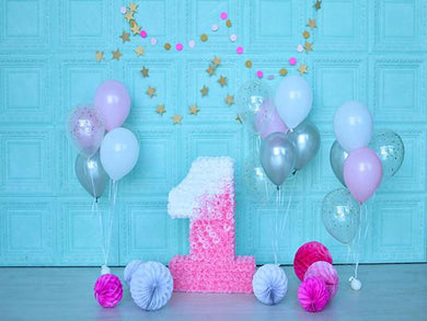 Katebackdrop:Kate Blue Wall Backdrops Photography Balloons 1St Birthday