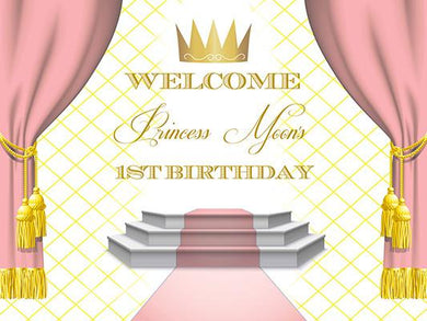 Katebackdrop:Kate Custom Birthday Baby Shower Pink Curtain Photography Backdrop