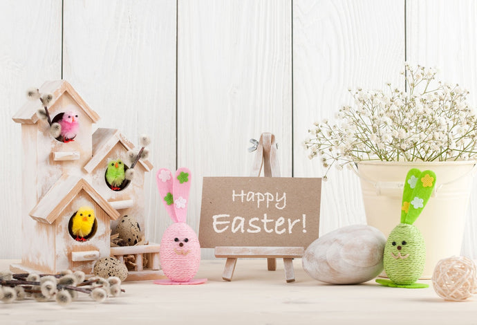 Katebackdrop:Kate Spring Happy Easter White Wood Description Backdrop