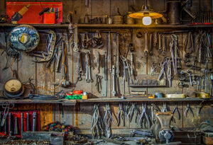 Katebackdrop:Kate Homesteader tools Backdrop for children photography