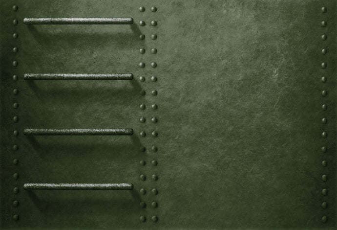 Katebackdrop:Kate Green Metal Military Vehicle Side Backdrop with Stairs