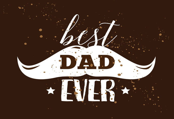 Kate Happy Father's Day Braun Farbe bester Vati Ever Backdrop Vatertag