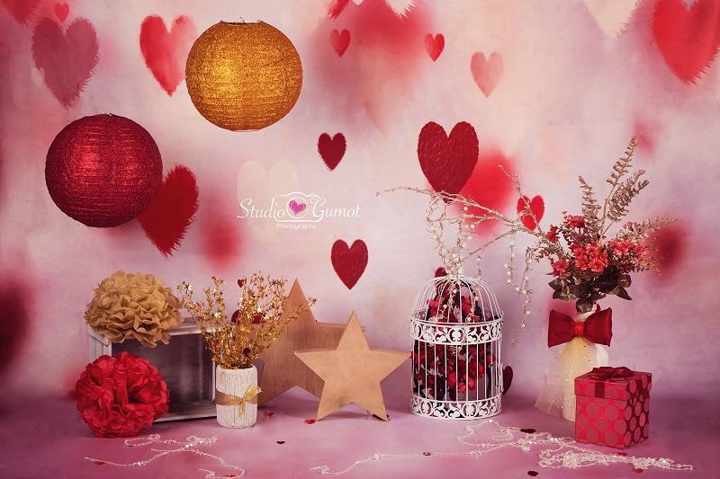 Kate LOVE Valentines Backdrop von Studio Gumot entworfen