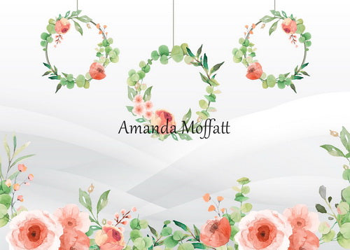 Kate Wild Rose Hoops Spring Background für Fotografie Entworfen von Amanda Moffatt
