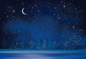 Katebackdrop:Kate Night blue winter sky Children/Newborn backdrop