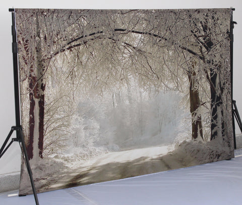 Katebackdrop:Kate Winter Scenery Snow Forest Photography Backdrops
