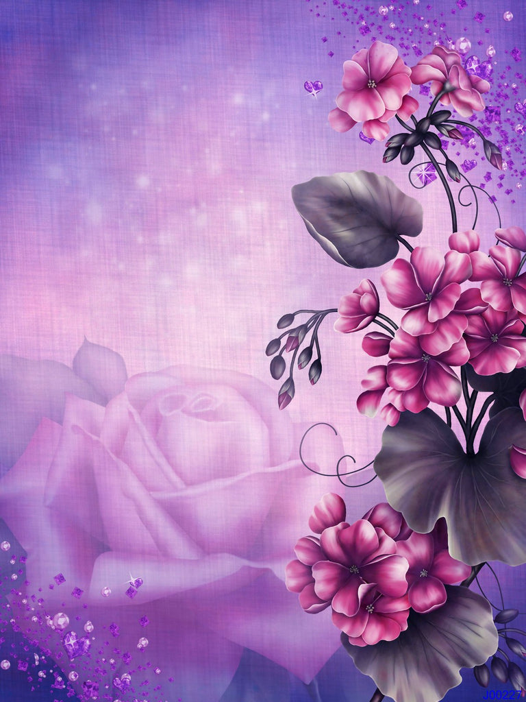 Katebackdrop:Kate Purple Flowers Background Portrait Photography backdrop