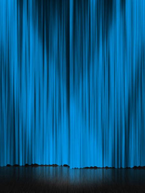 Katebackdrop:Kate Stage Blue Cutrain Theme Backdrops for Photographer