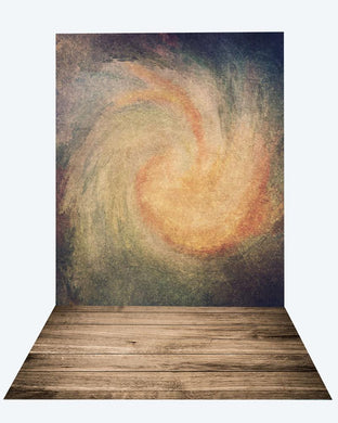 Katebackdrop:Kate abstract texture backdrop + wood floor mat