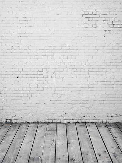 Katebackdrop:Kate Wedding White Brick Wall Floor Backdrop Photography