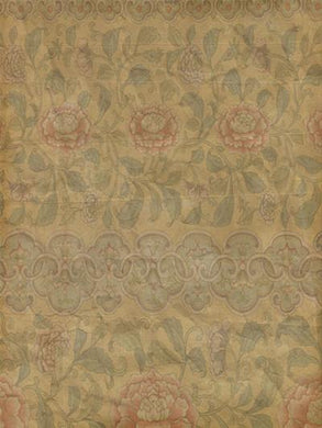 Katebackdrop:Kate Newborn Vintage Yellow Flowers Dark Pattern Printed Backdrops