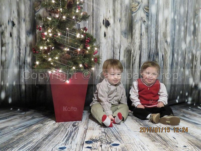 Katebackdrop:Kate Light Gray Wood Children Christmas Photography Backdrop