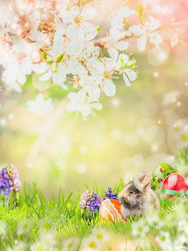Katebackdrop:Kate Floral Scenery Spring Backdrops Rabbit Backdrop Easter For Children