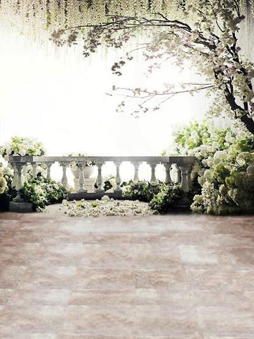 Katebackdrop:Kate Easter Backdrop Weeding Photo Photography White Flowers Tree Outdoor
