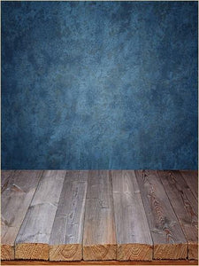Katebackdrop:Kate Blue Wall Wood Floor Retro Background For Photography