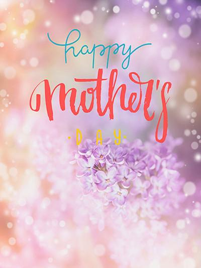 Katebackdrop Kate Pink Bokeh Background Happy Mother's Day