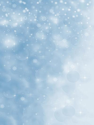 Katebackdrop:Kate Blue Wall White Snow Light Spot Backdrops For Studio