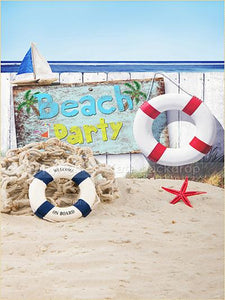 Katebackdrop Kate Sea Beach Party Summer Background Children Swim Ring