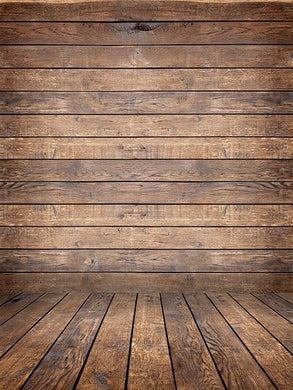 Katebackdrop:Kate Retro Dark Wood Background with Wood flooring Backdrop for Photography
