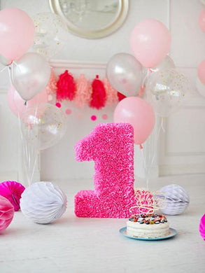 Katebackdrop:Kate Pink Photography Backdrops Balloons Cake 1st Birthday Background