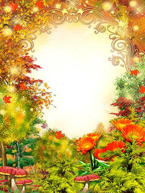 Katebackdrop:Kate Scenery Autumn Yellow Circle Fantastic Backgrounds