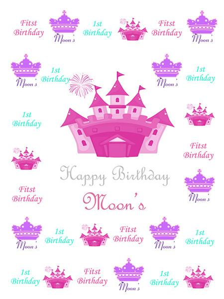 Katebackdrop:Kate Custom 1St Birthday Pink Backdrop Crown Background For Children