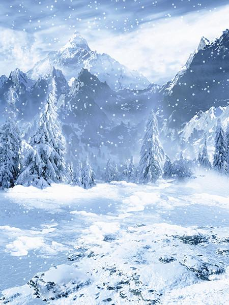 Katebackdrop:Kate Winner Photography Backdrops Mountain With Snow Backdrop