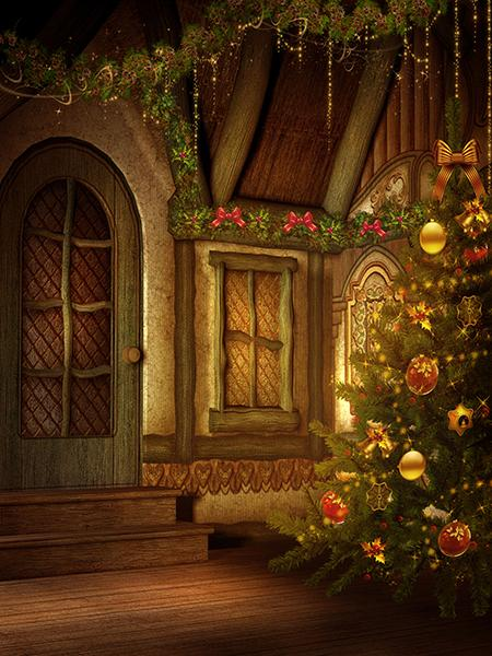 Katebackdrop:Kate Christmas Photography Backdrop Tree Light Decoration Background