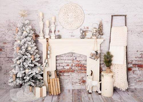 Katebackdrop£ºKate Christmas Decorations Brick Room Backdrop Designed By Pine Park Collection