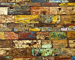Katebackdrop:Kate Retro Style Colorful Brick Wall Photography Backdrops