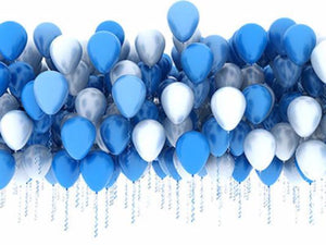 Katebackdrop:Kate Blue Balloon For Children Birthday Or Party Holiday Photo Backdrops