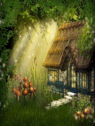 Katebackdrop:Kate Children Fairy Tale Forest House Backdrop