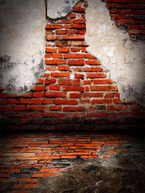 Katebackdrop:Kate Red Brown Retro Brick Wall Backdrop for Photography