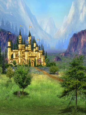 Katebackdrop:Kate Spring Background Castle Scenery Backdrops Fantastic Forest