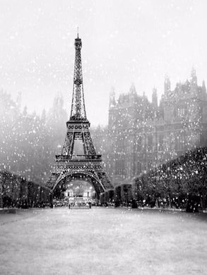 Katebackdrop:Kate Winter Scenery The Eiffel Tower Backdrop