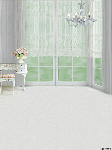 Katebackdrop:Kate White Curtain Door Backdrop with floor