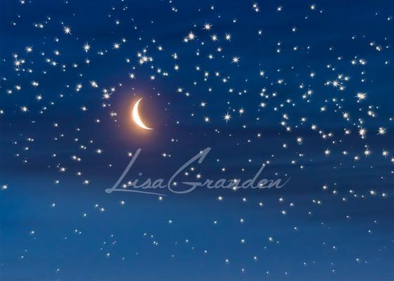 Katebackdrop£ºKate Moon&Stars Backdrop for Photography Designed by Lisa Granden